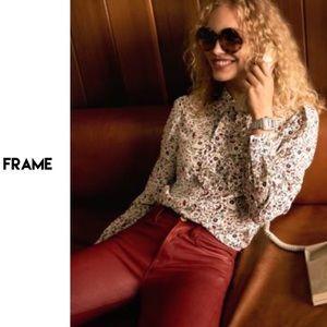 Frame Le High Hunter Red Coated Skinny NWT $235